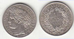 1-Franc-1888-A-LUXUS-fast-st-bis-st-MS62-MS65-stampsdealer