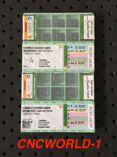 CNMG 120408-NMS WSM30S 10 Pcs Walter CNMG 432-NMS WSM30S 1 Box !