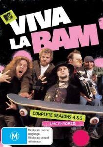 Viva-La-Bam-Seasons-4-amp-5-NEW-3-DVD-Bam-Margera-Region-4-Australia