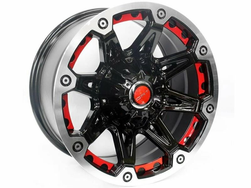 17 QS BK349 5/127 BKMF Alloy Wheels – 5/127 pcd – -12 offset – CB71.6 – 9j width – sold as a set of