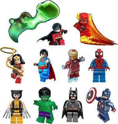 lego superheroes SUPERMAN IRONMAN SPIDERMAN VINYL WALL STICKER WALL DECALS