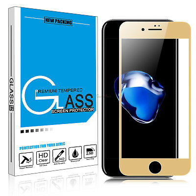 Premium Full Coverage Tempered Glass Screen Protector For iPhone 6 6S 7 Plus