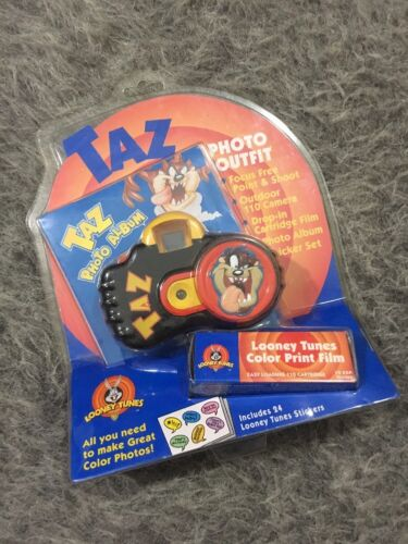 Taz Tasmanian Devil Looney Tunes Camera NOS Photo Outfit Stickers Album Kids