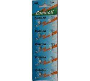 10 X EUNICELL AG0 LR521 379 SR521 BUTTON COIN WATCH BATTERIES BATTERY 6957046501005