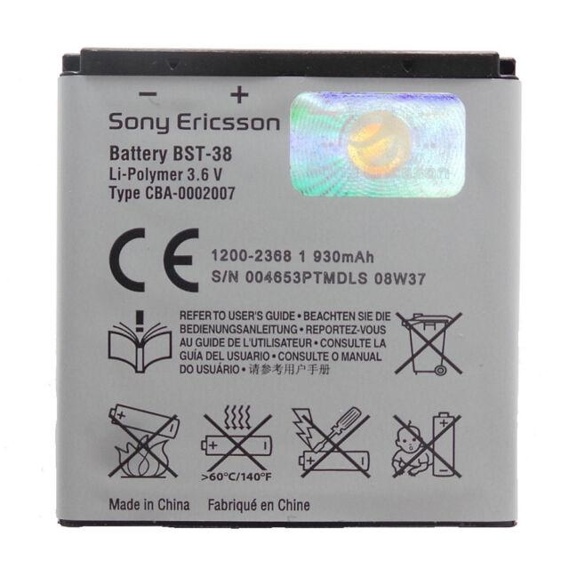 Batería Original BST-38 para Sony Ericsson S500i Usado