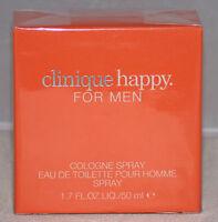 Clinique Happy 50 Ml Cologne Spray Eau De Toilette Men Brand In Box Orange