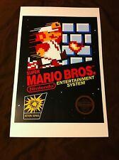 Super Mario Bros. 11x17 Box Art Poster - Nintendo NES No Game Brothers -