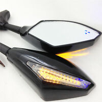 Blue Led Integrated Turn Signal Mirror Triumph Daytona 675r 600 650 Tt600