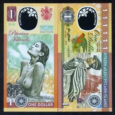 Pitcairn Islands, $1 Clear Window Polymer, 2018, Bounty, Polynesian Nude