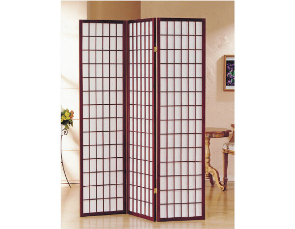 Brand New 3-panel ASIAN STYLE SHOJI screen room divider- IN CHERRY COLOR- ASDI