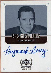1999-UD-Century-Legends-Epic-Signatures-RAYMOND-BERRY-RB-Colts-Legend-BV-40