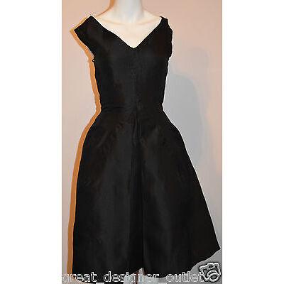 Dolce Gabbana D&G Dress Gown Cotton Silk A Line Skirt Pockets Formal  Size 38