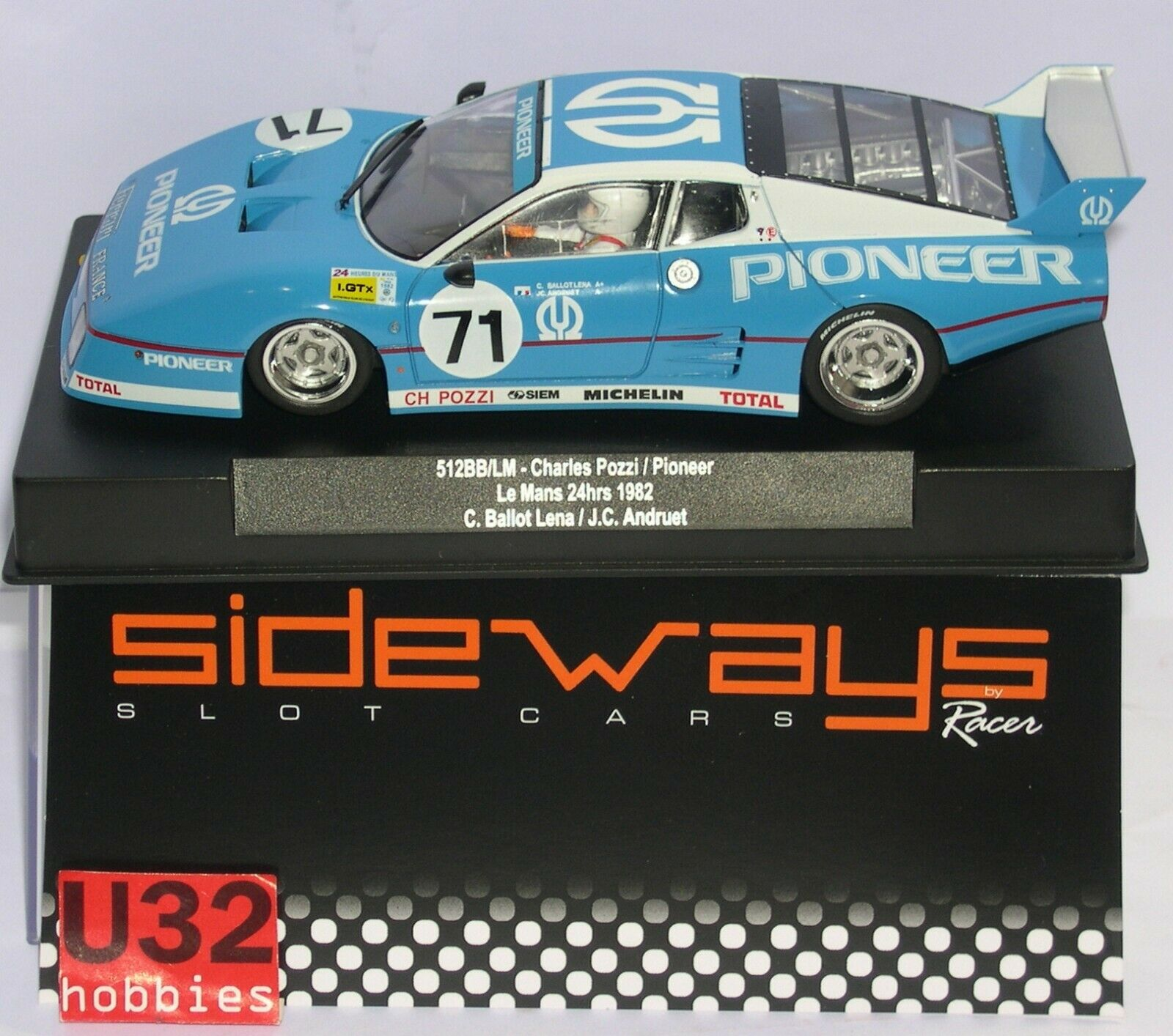 Racer Sideways sw64 Ferrari 512bb LM   71 Pioneer 24h.le hommes 1982  économiser jusqu'à 70%