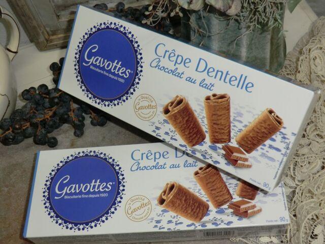 2x 90g Gavottes Crêpe Dentelle mit Milchschokolade Kekse Gebäck Frankreich