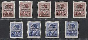 MONTENEGRO-1943-emissione-di-Cettigne-francobolli-di-Jugoslavia-4-943