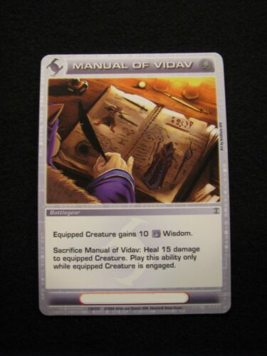 Chaotic Trading Card Manual of Vidav Battlegear 138/222 MINT