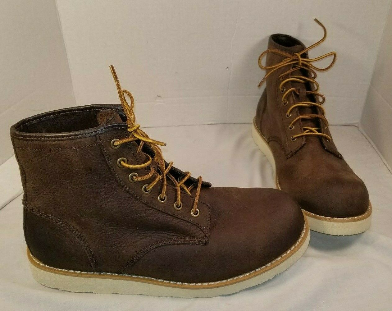 3f45e4718c136 NEW AMERICAN EAGLE OUTFITTERS LACE UP DARK BOOTS US MEN S 12 BROWN LEATHER  zkevol8754-Boots