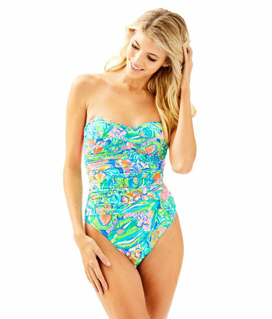 38c16b5cf9 Lilly Pulitzer Flamenco One-piece Swimsuit Bennet Blue Surf Gypsea 2 ...