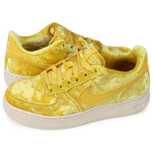 Nike Air Force 1 Low AF1 GS MINERAL GOLD YELLOW WHITE 849345-700 Kid/'s Youth