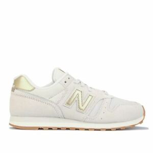 Women's New Balance 373 Lace up Lightweight Cushioned Trainers in Cream