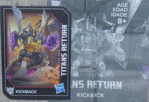 Transformers Titans retour un rebond Manuel Bio Carte