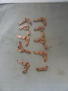Lot-10-VTG-NOS-Knife-Pivot-Hinges-Short-Arm-Invisible-Victrola-Phonograph-Door