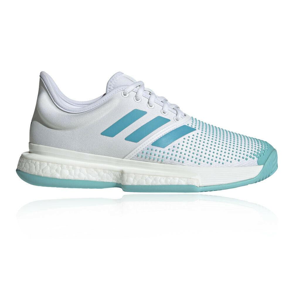 Adidas Womannens SoleCourt Boost Parley Tennis schoenen wit Sports ademende