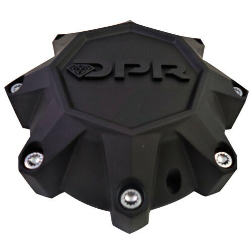DPR Wheels Flat Black Black Logo Custom Wheel Center Cap # A01-Z-CAP TALL 1