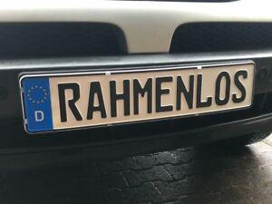 2x Top Rahmenlos Nummernschildhalter Kennzeichenhalter Aus Edelstahl 520 x 110