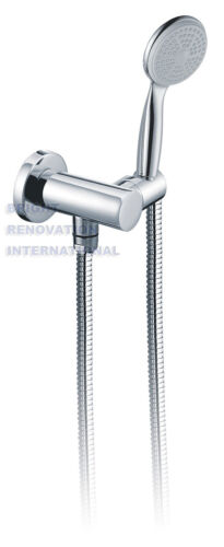 New WELS Bathroom Round Hand Held Shower Rose With Wall Fixing Bracket Plumbing