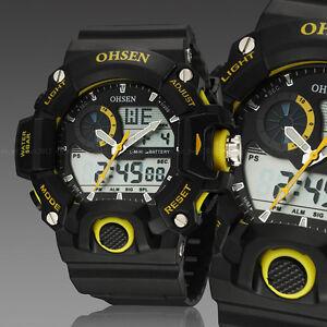 OHSEN-Mens-G-Style-Alarm-Water-Proof-Date-Yellow-Case-Shock-Quartz-Wrist-Watches