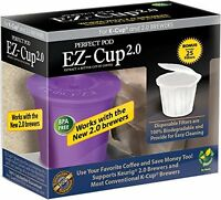 Ez-cup 2.0 By Perfect Pod For Keurig 2.0 - K200, K300, K400, K500 Series, New, F on sale