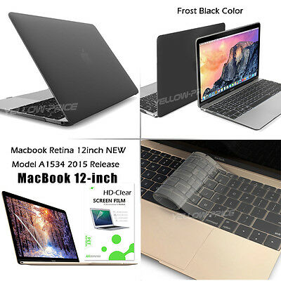 Rubberized Matte Hard Macbook Case+Keyboard Cover for Macbook Retina 12inch 2015