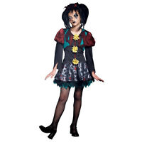 Scary Merry M 8-10 Child Girl's Creepy Gothic Rag Doll Costume Rubies