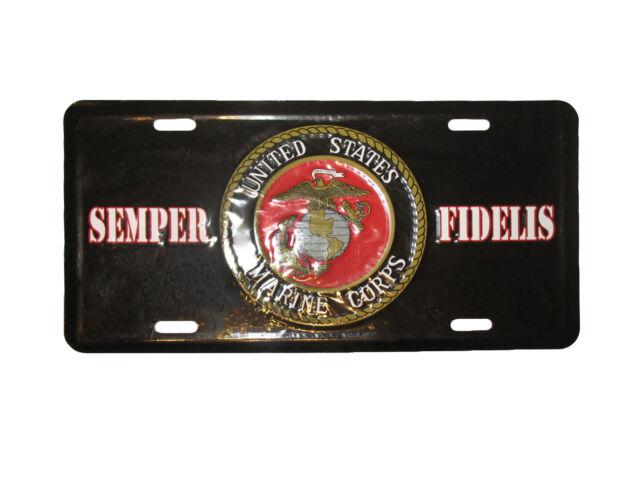 License Plate U.S Marines Semper Fi  USMC new aluminum Auto tag made in U.S.A.