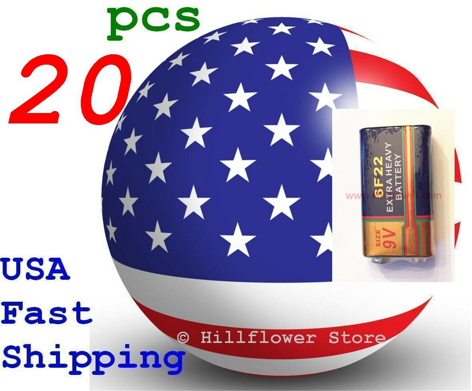 20 pcs 6F22 6LR61 Super Heavy Duty Bulk 9V Zinc Carbon Battery