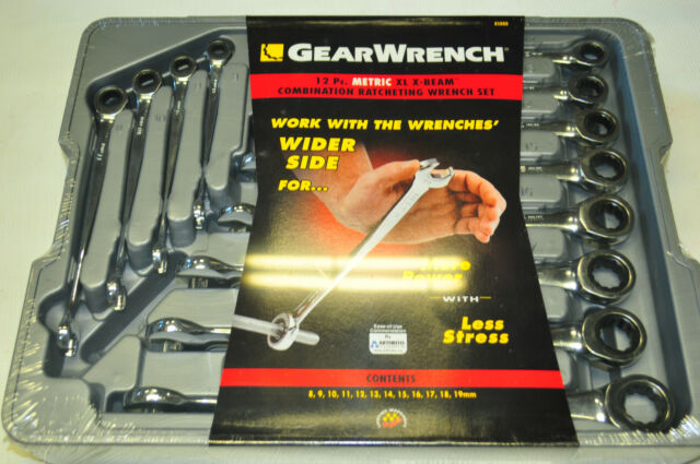 GEARWRENCH 85888 12 Piece Set Metric X-Beam Combination Ratcheting Wrench