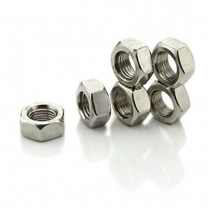 201-Stainless-Steel-UNC-BSW-Hex-Full-Nuts-10-1-4-034-5-16-034-3-8-034-7-16-034-1-2-034