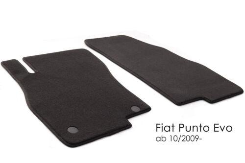 Fußmatten Fiat Punto Evo Original Qualität Velour 2-teilig Automatten Tuning