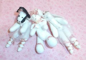 Dettagli su 3 PIN LOT! country style COW, BEAR, and BUNNY so cute! VINTAGE