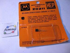 HEP-Z0211-Motorola-Zener-Diode-5-1V-500mW-NOS-Qty-1