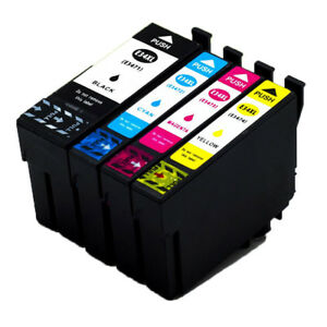 4x-Drucker-Patronen-fuer-Epson-34-XL-WorkForce-Pro-WF-3700-WF-3720-WF-3725-DWF