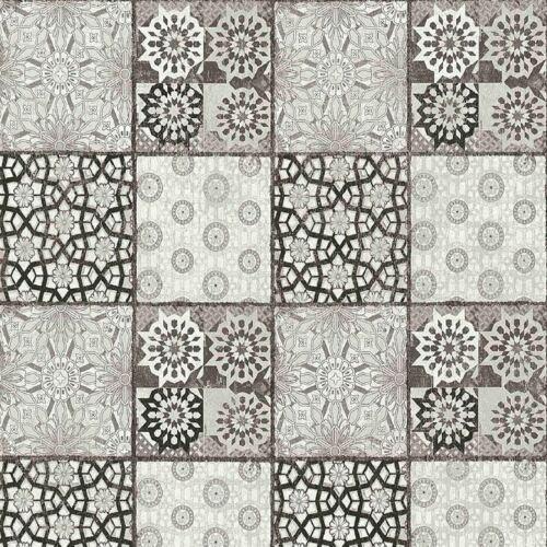 AS Creation Moroccan Mosaic Tiles Wallpaper Non Woven Kitchen Black Grey 36895-4