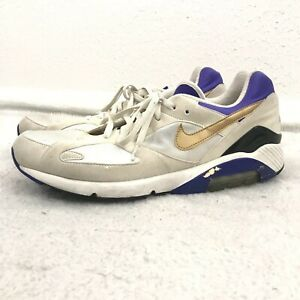 8d69796b00 Vintage Nike Air Max 180 Sz 14 QS 626960-175 White Gold Concord ...
