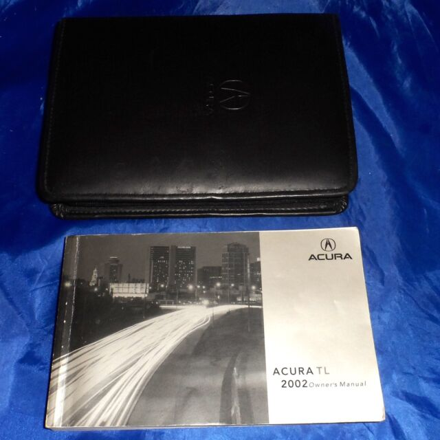 2002 Acura TL, Owner's Manual Book With Case Cover