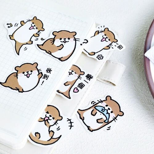 45pcs cute otter series paper sticker diy diary decor for album scrapbookingOXDE