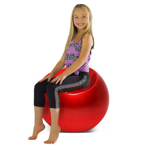 Outdoor-Living-Room-Patio-Night-Club-Bar-Cocktail-Kid-Pouf-Chair-Ball-Seat-Red