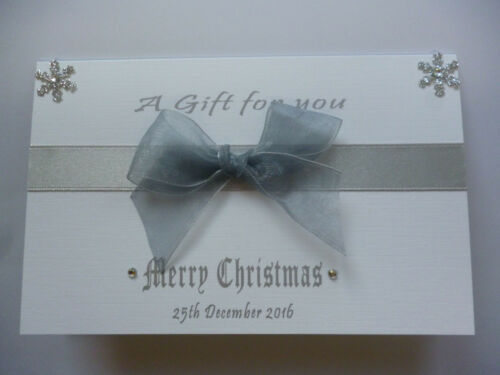 A6 size Christmas Gift card// Lottery Wallet Lots of colours