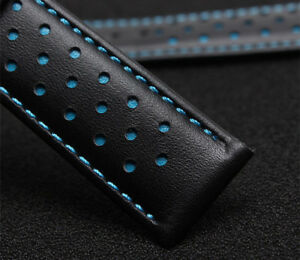 Replacment-Leather-Watch-Strap-Band-BLUE-Made-For-Tag-Heuer-Monaco