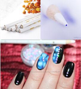 2pcs Nail Art Manicure Rhinestone Gems Picker Picking Up White